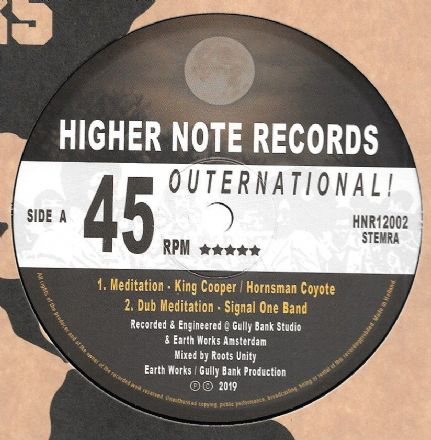 King Cooper & Hornsman Coyote - Meditation / Signal One Band - Dub Meditation (Higher Note) 12""